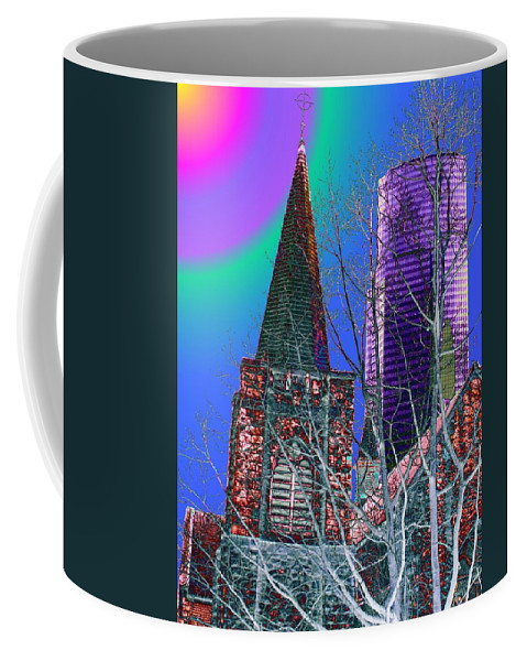 Seattle Coffee Mug featuring the digital art Steeple And Columbia by Tim Allen