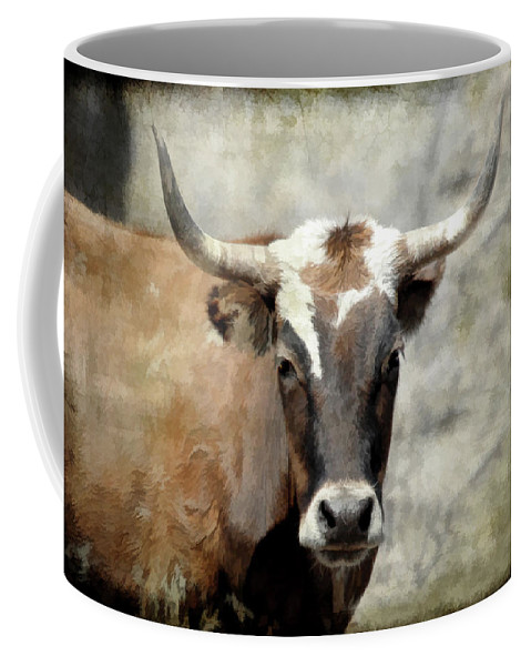 Steer Coffee Mug featuring the photograph Steer Bull by Athena Mckinzie