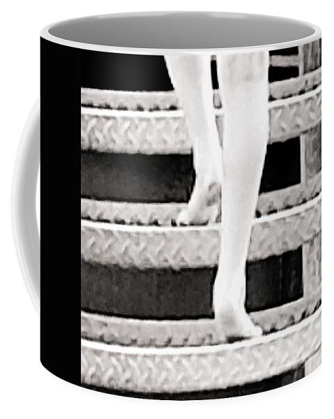 Climb Coffee Mug featuring the digital art Step Up by Katie Irwin Flather