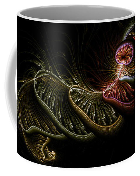 Abstract Coffee Mug featuring the digital art Stepping Through Time by Casey Kotas