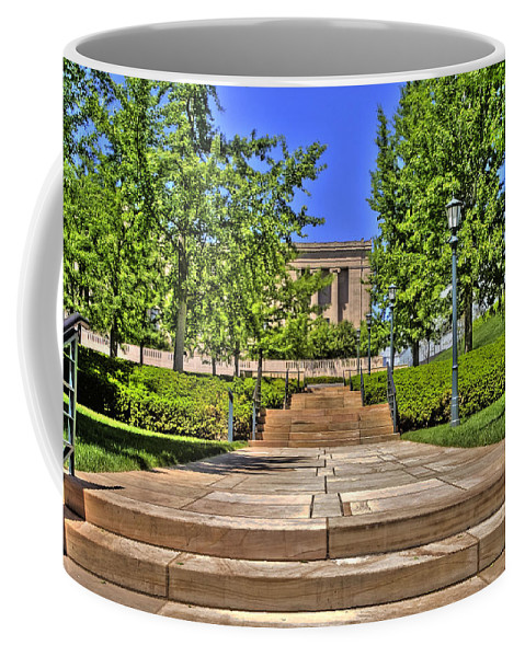 Hdr Coffee Mug featuring the photograph Steps To The Nelson by Timothy Bischoff