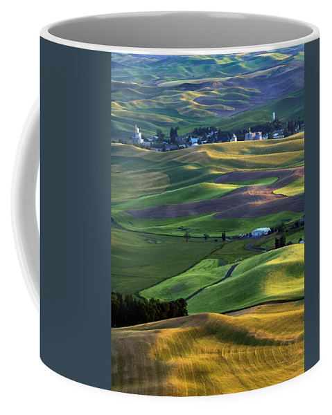 Palouse Coffee Mug featuring the photograph Steptoe Shadows by Mike Dawson