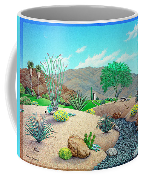 Landscape Coffee Mug featuring the painting Steve's Yard by Snake Jagger