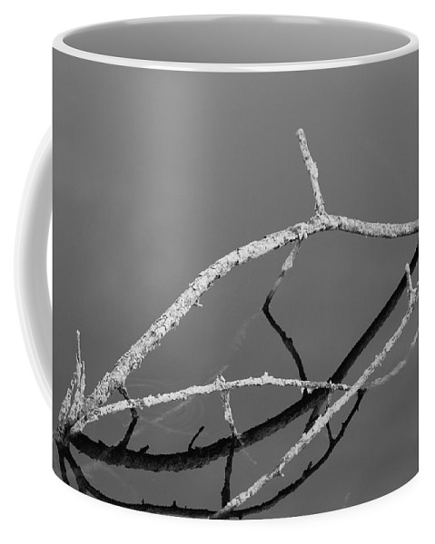 Black And White Coffee Mug featuring the photograph Stick Bridge by Rob Hans
