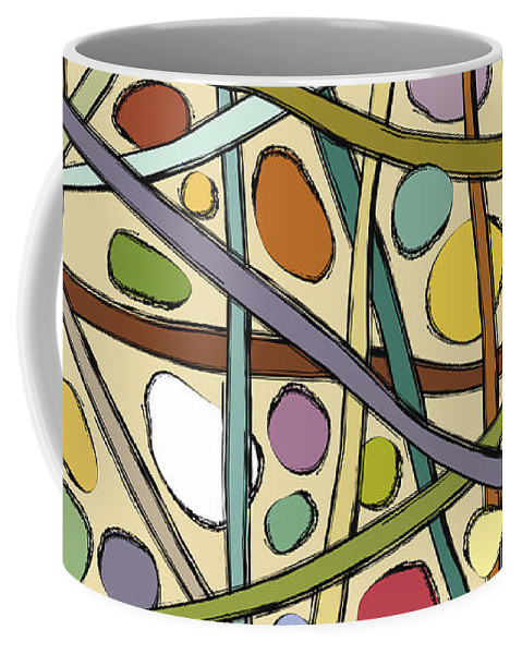 Design Coffee Mug featuring the digital art Sticks And Stones by Carolyn Rie
