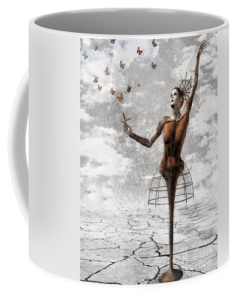 Surreal Coffee Mug featuring the painting Still Believe by Jacky Gerritsen