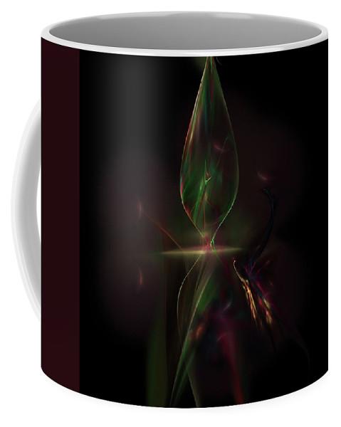 Abstract Digital Painting Coffee Mug featuring the digital art Still Life 11-14-09 by David Lane