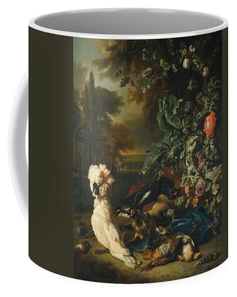 Jan Weenix Amsterdam 1642 - 1719 Still Life Of Gamebirds Coffee Mug featuring the painting Still Life Of Gamebirds by MotionAge Designs