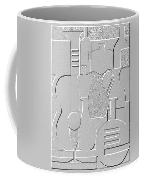 Still Life Coffee Mug featuring the relief Still Life Paper Relief by Mal Bray