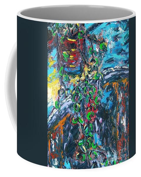 Sjkim Art Coffee Mug featuring the painting Abstract Still Life by Seon-Jeong Kim