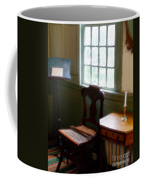 Still Life Coffee Mug featuring the painting Still Life, Stevens House by RC deWinter