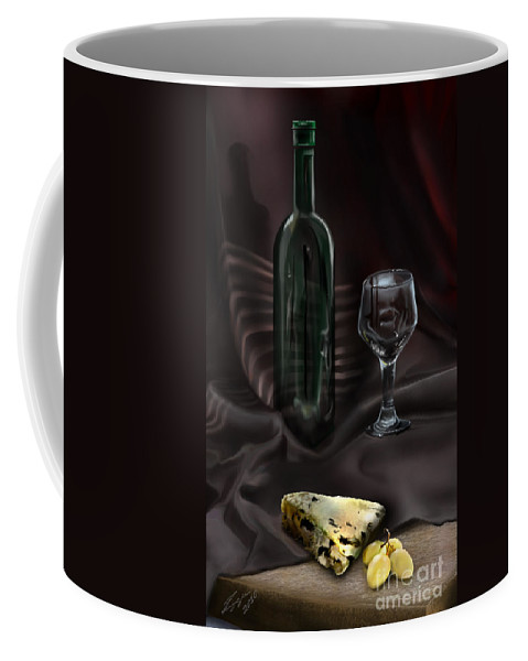 Wine Bottle Coffee Mug featuring the painting Still Life Study by Reggie Duffie