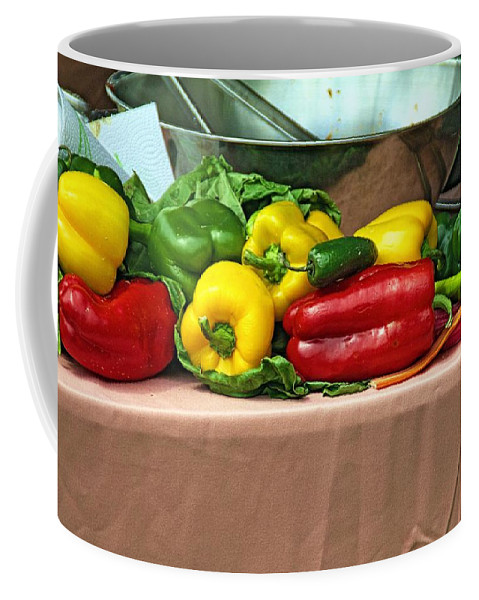 Still Coffee Mug featuring the photograph Still Life Vegetables by Karl Rose