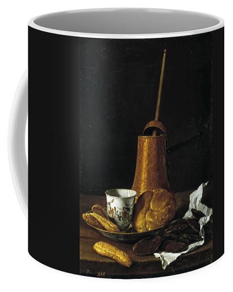Luis Egidio Melendez Coffee Mug featuring the painting Still Life With A Chocolate Service by Luis Egidio Melendez