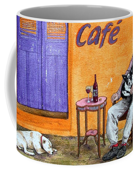 Music Coffee Mug featuring the painting Still Life With Dogs And Music by Gale Cochran-Smith