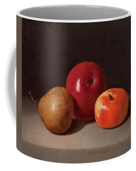 Peter Baumgras Coffee Mug featuring the painting Still Life With Fruit by Peter Baumgras