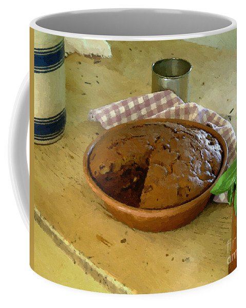 Gingerbread Coffee Mug featuring the painting Still Life With Gingerbread by RC DeWinter
