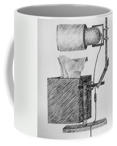 Still Life Coffee Mug featuring the drawing Still Life With Lamp And Tissues by Michelle Calkins