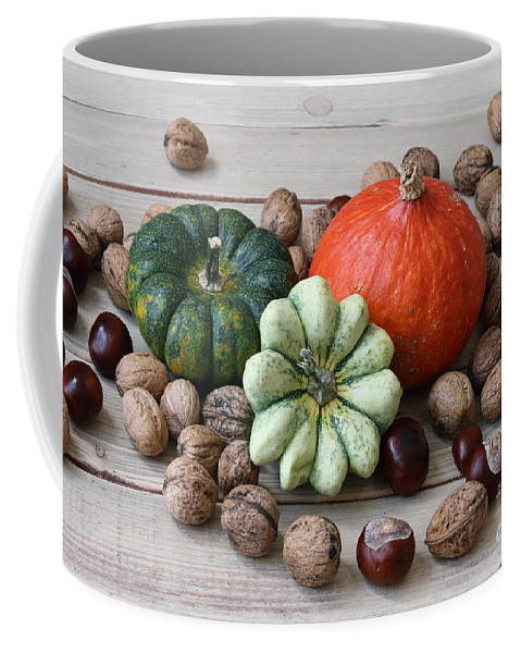 Pumpkin Coffee Mug featuring the photograph Still Life With Products Of Autumn by Michal Boubin