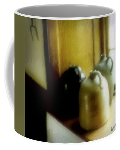 Antiques Coffee Mug featuring the digital art Still Life With Stoneware by RC DeWinter