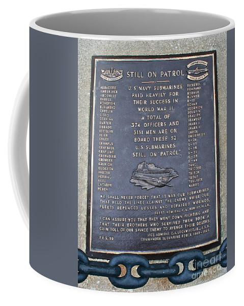 Memorial Coffee Mug featuring the photograph Still On Patrol by Rick Monyahan