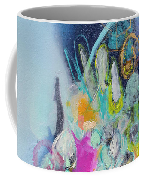 Abstract Coffee Mug featuring the painting Still Playing by Claire Desjardins