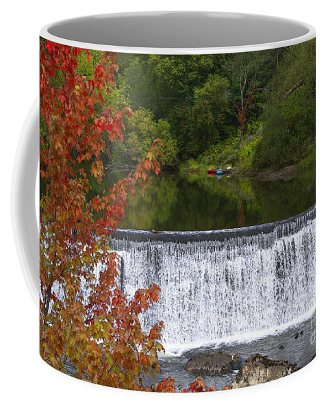 Falls Coffee Mug featuring the photograph Stillness Of Beauty by Deborah Benoit