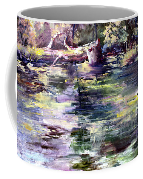 Stillwater Coffee Mug featuring the painting Stillwater by Connie Williams