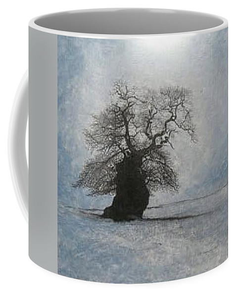 Silhouette Coffee Mug featuring the painting Stilton Silhouette by Leah Tomaino