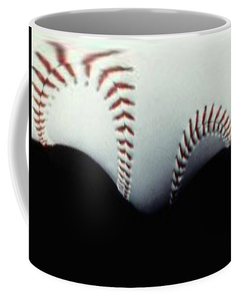 Baseball Coffee Mug featuring the photograph Stitches Of The Game by Tim Allen
