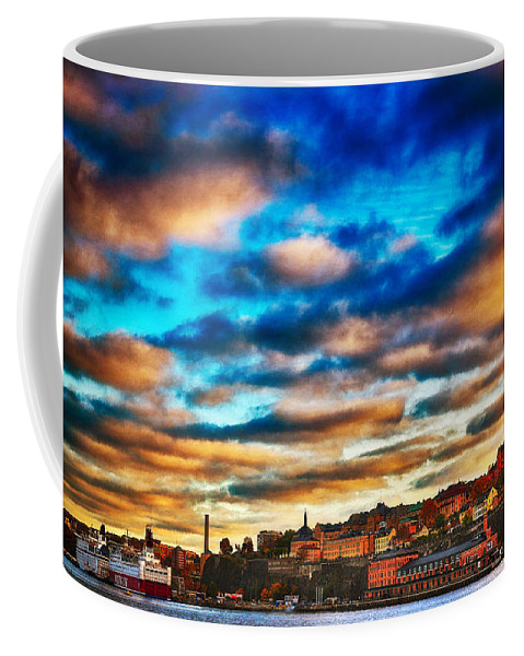 Bold Colors Coffee Mug featuring the photograph Stockholm In Bold Colors by Ramon Martinez