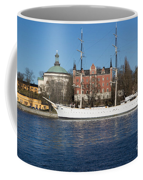Stockholm Coffee Mug featuring the photograph Stockholm Ship by Suzanne Luft