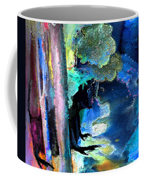 Fantasy Coffee Mug featuring the painting Stolen Kiss by Miki De Goodaboom