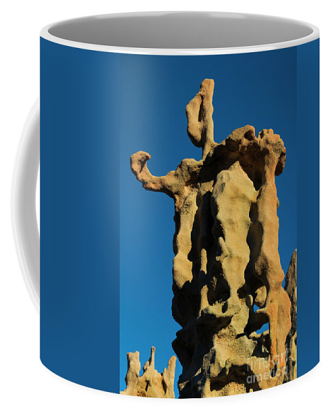 Siltstone Coffee Mug featuring the photograph Stone Bot by Mike Dawson