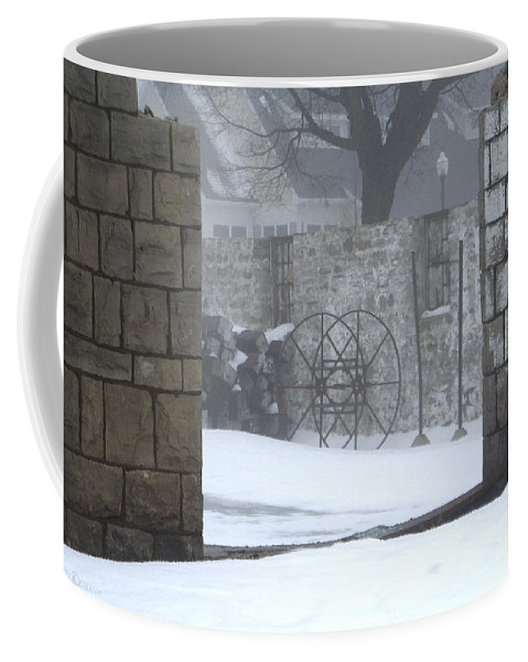 Winter Coffee Mug featuring the photograph Stone Cellar by Tim Nyberg
