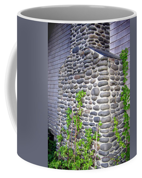 Chimney Coffee Mug featuring the photograph Stone Chimney by Will Borden
