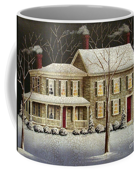 Art Coffee Mug featuring the painting Stone Crossing by Catherine Holman
