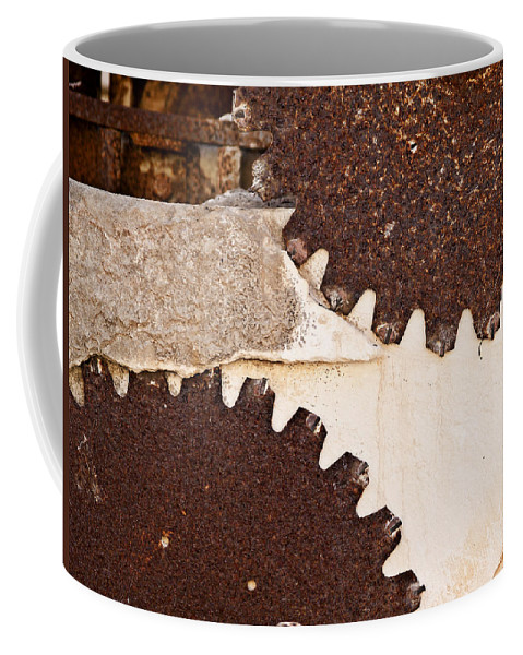 Limestone Coffee Mug featuring the photograph Stone Eater In Lime Stone Quarry - Lithica by Pedro Cardona Llambias