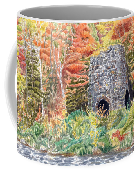 Stones Coffee Mug featuring the painting Stone Furnace by Dominic White