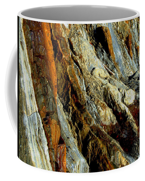Rock Coffee Mug featuring the photograph Stone History by Donna Blackhall
