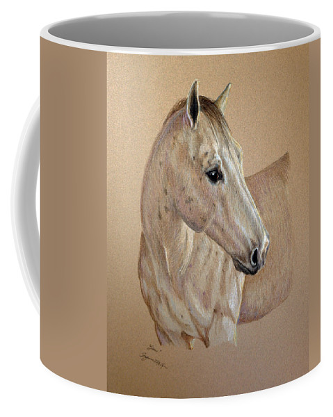 Animal Coffee Mug featuring the drawing Stone by Suzanne McKee