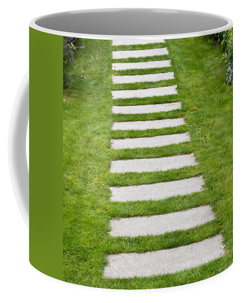 Agriculture Coffee Mug featuring the photograph Stone Walkway by John Trax