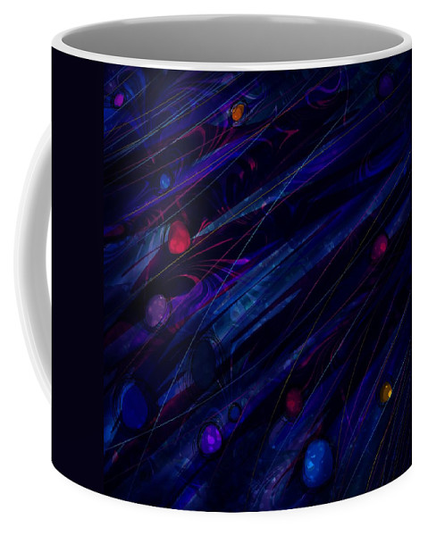 Abstract Coffee Mug featuring the digital art Stoned by Rachel Christine Nowicki