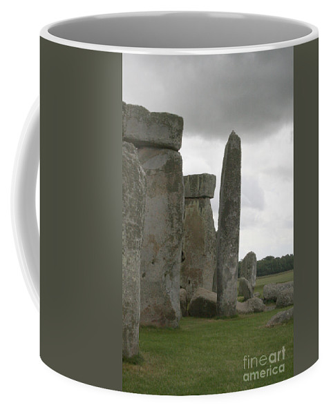 Human Coffee Mug featuring the photograph Stonehenge Side Pillars by Mary Mikawoz