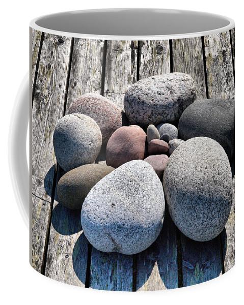 Lehtokukka Coffee Mug featuring the photograph Stones And Old Wood 3 by Jouko Lehto