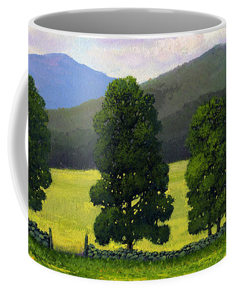 Landscape Coffee Mug featuring the painting Stonewall Field by Frank Wilson