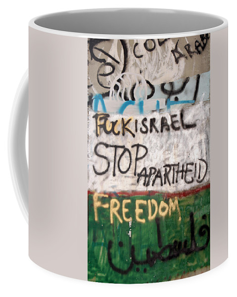 Stop Apartheid Coffee Mug featuring the photograph Stop Apartheid by Munir Alawi