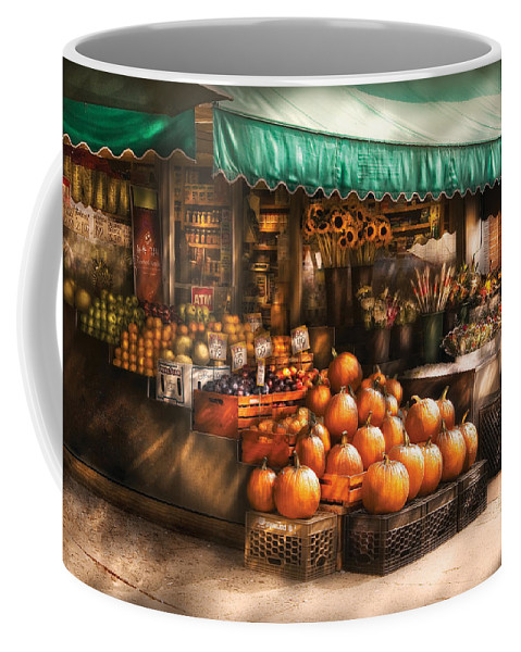 Hoboken Coffee Mug featuring the photograph Store - Hoboken Nj - The Fruit Market by Mike Savad