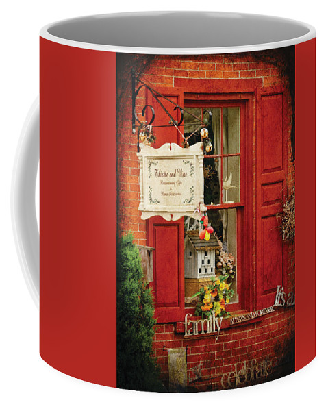 Thistle Coffee Mug featuring the photograph Store - Strausburg Pa - Thistle And Vine by Mike Savad