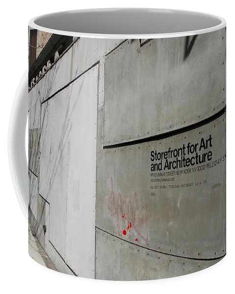 Storefront Coffee Mug featuring the photograph Storefront For Art And Architecture by Rob Hans
